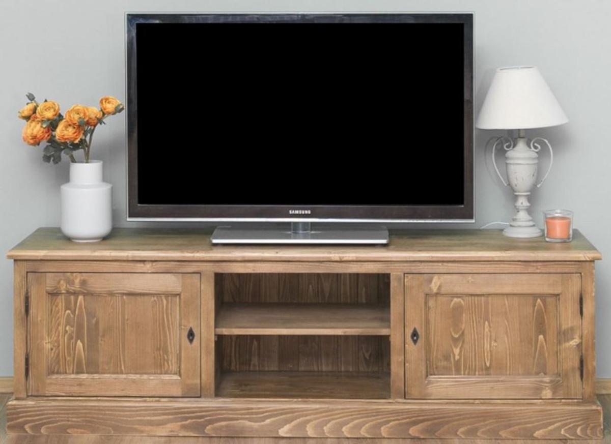 casa padrino buffet de style campagnard avec 2 portes marron180 x 46 x h 56 cm meuble tv en bois massif meuble de salon mobilier de style