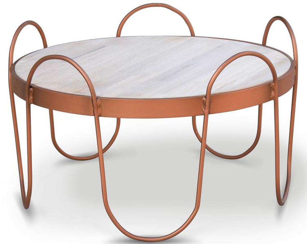 casa padrino table basse en bois massif differentes couleurs et tailles table de salon ronde avec plateau en chene rustique et structure en acier