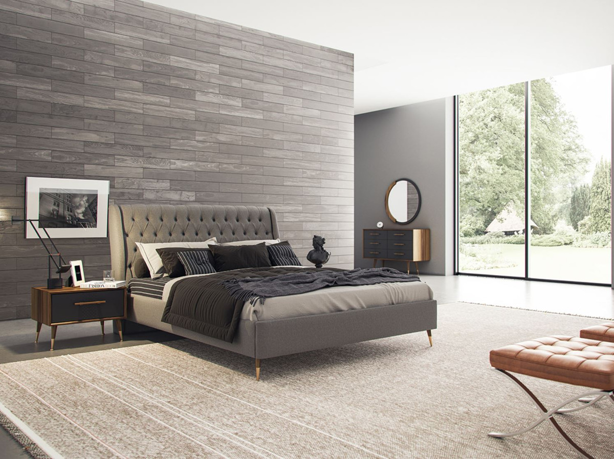 casa padrino luxury bedroom set brown gray brass 1 chest of drawers with 6 drawers 1 wall mirror bedroom cabinet with mirror bedroom