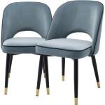 Casa Padrino Luxus Esszimmerstuhl Set Blau Schwarz Messing 53 X 56 X H 84 Cm Esszimmerstuhle Mit Edlem Samtstoff Esszimmer Mobel