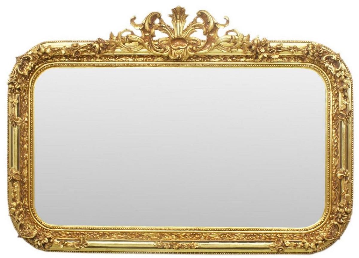 casa padrino miroir baroque or 140 x h 95 cm miroir mural de style ancien fait main miroir d armoire miroir de salon mobilier baroque