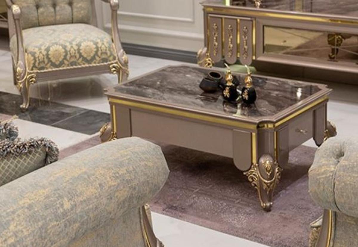casa padrino table basse baroque de luxe noir gris or 110 x 72 x h 48 cm table de salon en bois massif meubles de style baroque