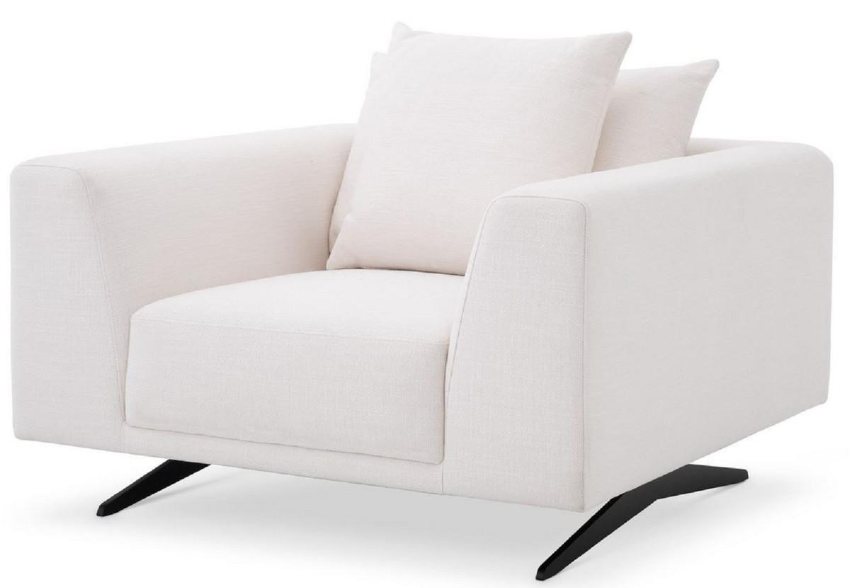 casa padrino fauteuil de salon de luxe avec coussins blanc bronze 110 x 108 x h 64 cm meubles de salon meubles de luxe