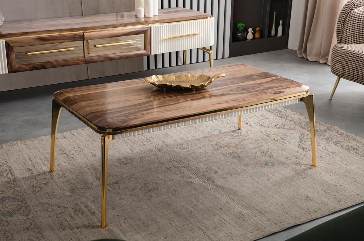 casa padrino luxury art deco coffee table brown gold 117 x 62 x h 45 cm elegant living room table art deco living room furniture