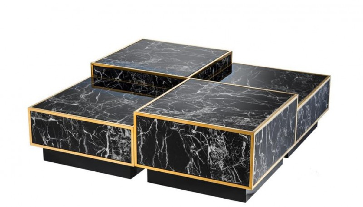 casa padrino art deco luxury coffee table faux marble gold finish set of 4 living room coffee table luxury table