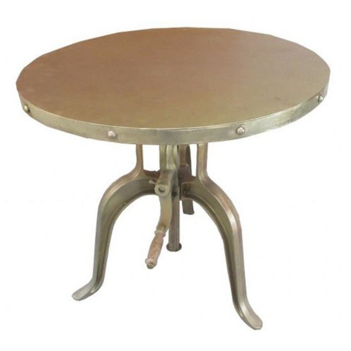table d appoint industrielle avec manivelle or casa padrino 75 x h 72 98 cm mobilier d hotel design table design industriel