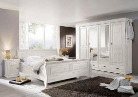 Massivholz Schlafzimmer komplett Set Kiefer massiv Holz ...