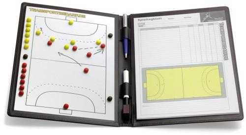 handball magnetische taktikmappe leder teamsportbedarf de