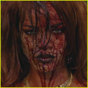 rihanna bbhmm video blood face