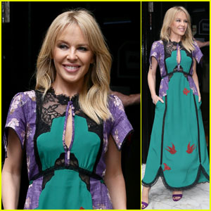 Kylie Minogue Looks Glam at Magic Radio Studios in London!