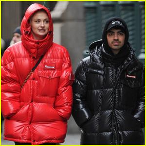 Joe Jonas & Sophie Turner Bundle Up for Stroll in NYC