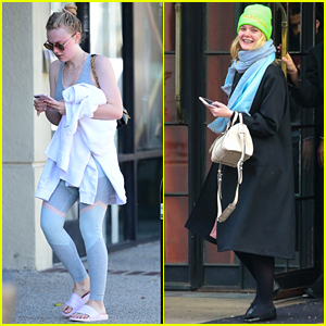 Dakota Fanning Works Out in LA as Sister Elle Steps Out in NYC