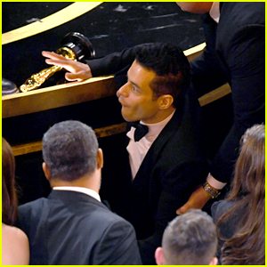 Rami Malek Fell Off the Oscars Stage After Winning! (Photos)