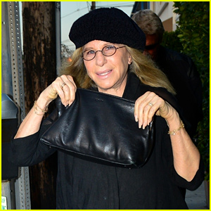 Barbra Streisand Wears All Black for Dinner at Giorgio Baldi