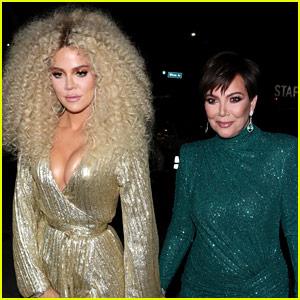 Khloe Kardashian & Kris Jenner Go Totally Glam for Diana Ross' Birthday Party