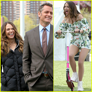 Sutton Foster Scoots Around 'Younger' Set with Peter Hermann!