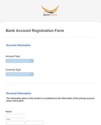 Fill check register template, edit online. Bank Account Registration Form Template Jotform