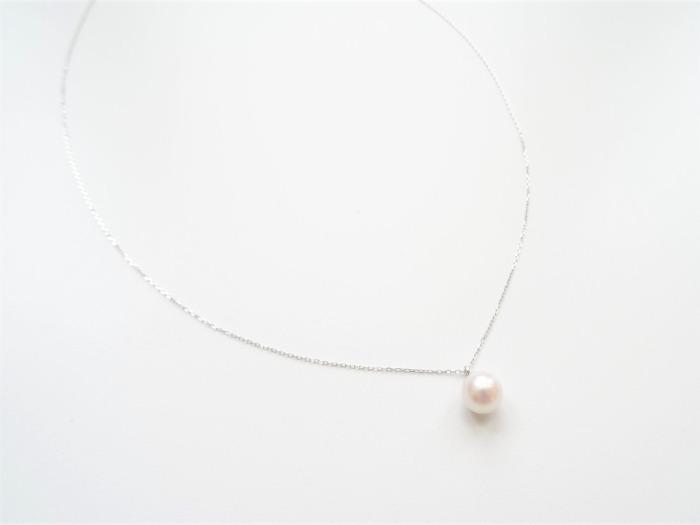 18k金白金珍珠項鍊