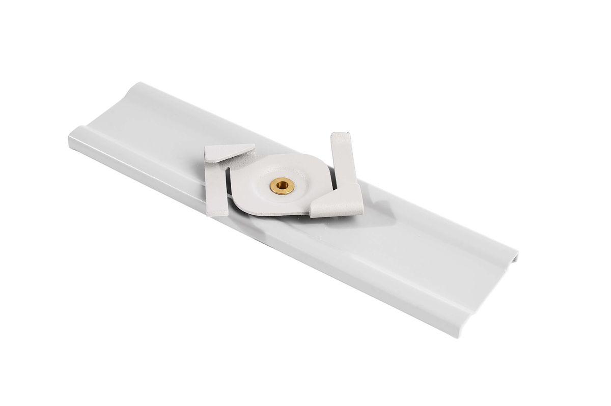 schnellmontageklammer weiss clip fur rasterdecken montage d line 3 phasen schiene