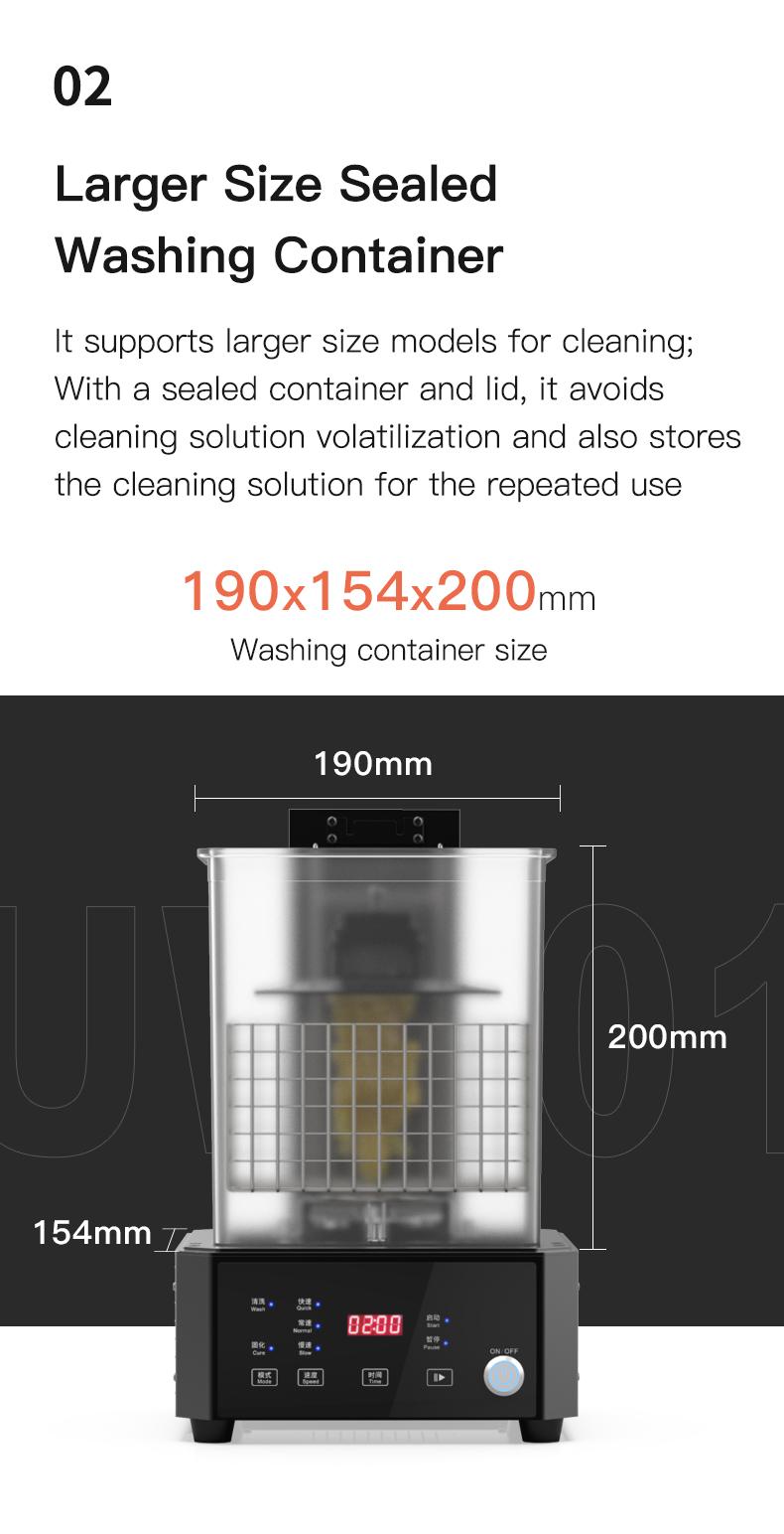 UW01 5 Creality UW-01 - expunere si spalare