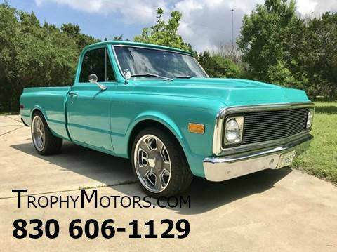 Chevrolet Used Cars Trailers For Sale New Braunfels TROPHY MOTORS 1972 Chevrolet C K 10 Series