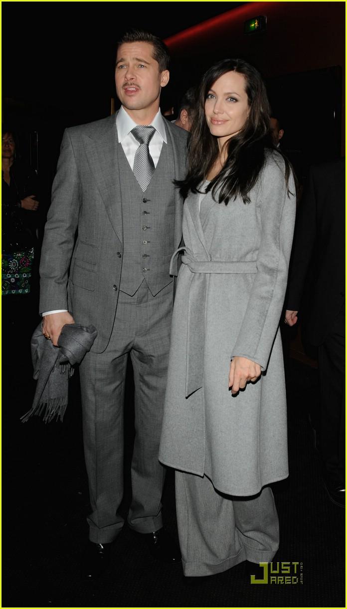 Full Sized Photo Of Brad Pitt Angelina Jolie Gray Outfits