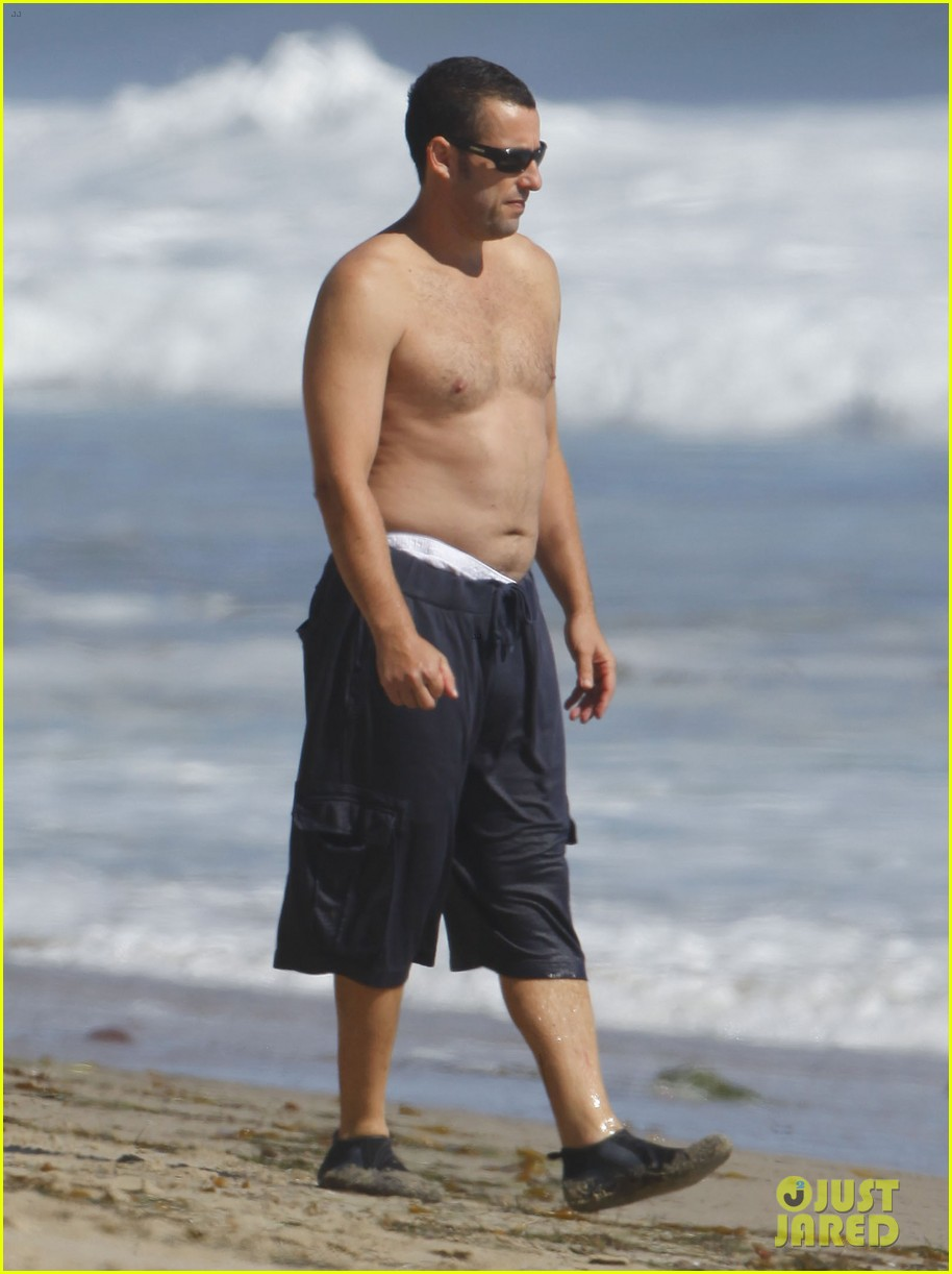 Adam Sandler Shirtless Beach Time With Sadie Amp Sunny