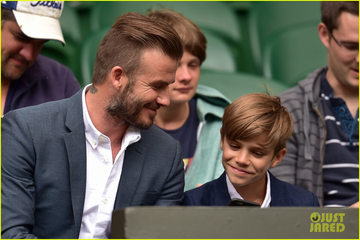 david beckham son romeo attend wimbledon 01