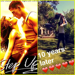 Channing Tatum & Jenna Dewan Recreate 'Step Up' Dance Ten Years Later (Video)