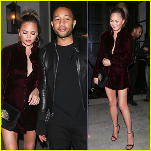 Chrissy Teigen Shows Off Her Killer Legs on Date Night with John Legned