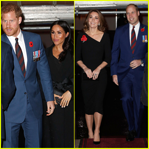 Prince Harry & Meghan Markle Join Prince William & Kate Middleton at Festival Of Remembrance 2018!