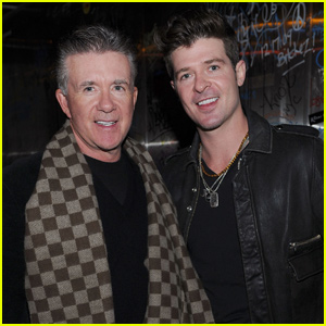 Robin Thicke Brings Children Julian & Mia to Pay Tribute to Late Father Alan Thicke