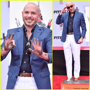 Pitbull is Honored at Hand & Footprint Ceremony in Hollywood!
