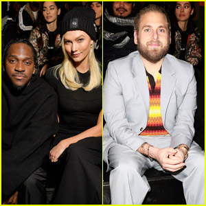 Pusha T, Karlie Kloss & Jonah Hill Attend Y-3 Show During Paris Fashion Week