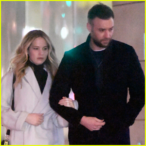 Jennifer Lawrence & Fiance Cooke Maroney Meet Up with Friends in NYC