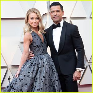 Kelly Ripa Hits Oscars 2019 Red Carpet with Husband Mark Consuelos