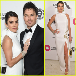 Nikki Reed Cozies Up to Ian Somerhalder at Elton John's Oscars Party
