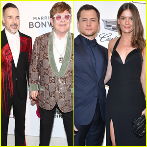 Taron Egerton Joins Elton John at His Oscars 2019 Party
