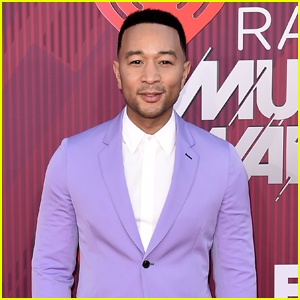 John Legend Rocks Purple Suit for iHeartRadio Music Awards 2019