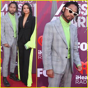 Miguel & Wife Nazanin Mandi Couple Up at iHeartRadio Music Awards 2019