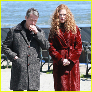 Nicole Kidman & Hugh Grant Film a Scene for 'The Undoing' in Manhattan