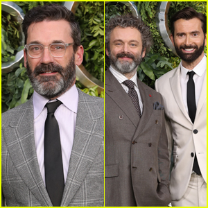 Jon Hamm Joins Michael Sheen & David Tennant at 'Good Omens' Premiere in London