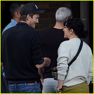 Ashton Kutcher Meets Up with Former Stepdaughter Rumer Willis