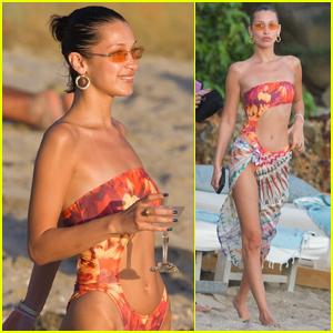 Bella Hadid Rocks Sexy Bikini for Beach Day in St. Barts!