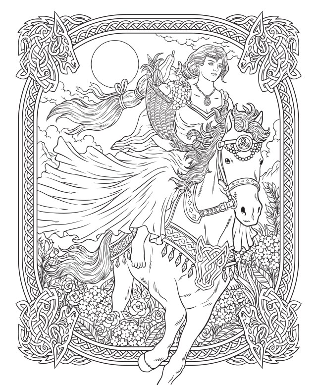 Freebie Friday 5-5-5 Free Goddesses Coloring Page