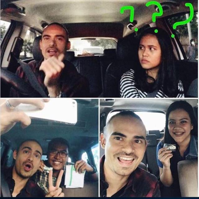 Ashraf Sinclair Saat Jadi Driver Taksi Online