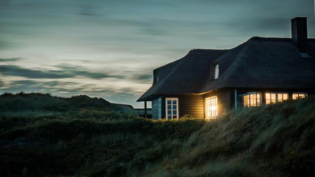 Ilustrasi rumah berhantu