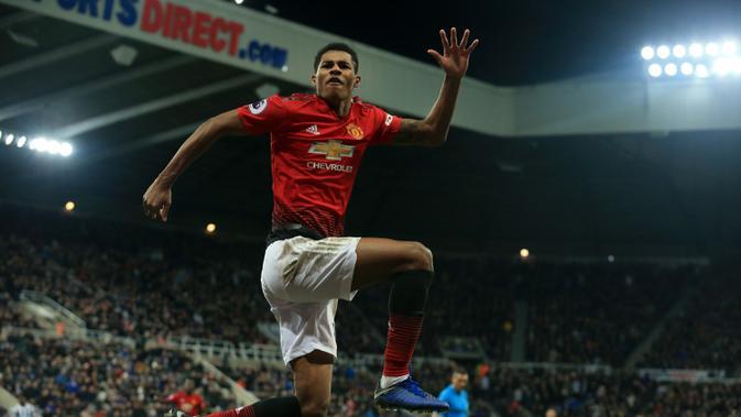 Striker Manchester United (MU) Marcus Rashford. (AFP/Lindsey Parnaby)