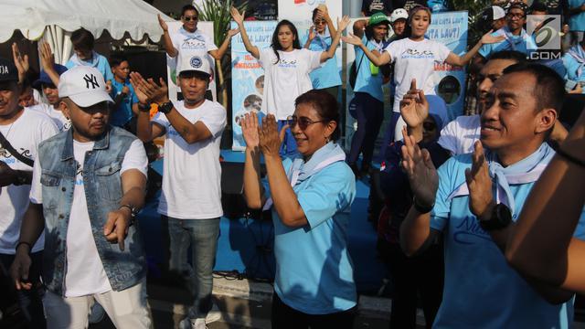 Gaya Menteri Susi Joget Baby Shark Dance Saat Resmikan Pandu Laut Nusantara