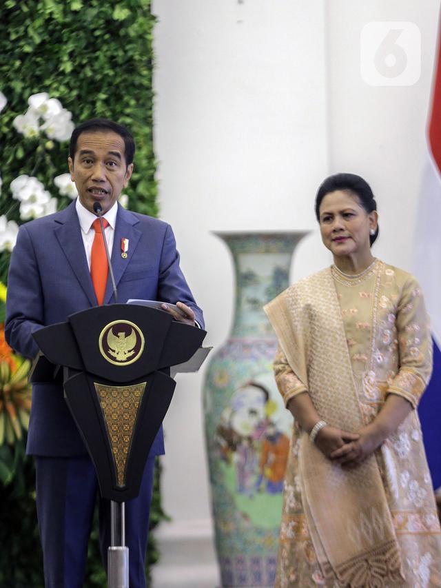 Presiden Jokowi dan Raja Belanda Sampaikan Keterangan Bersama